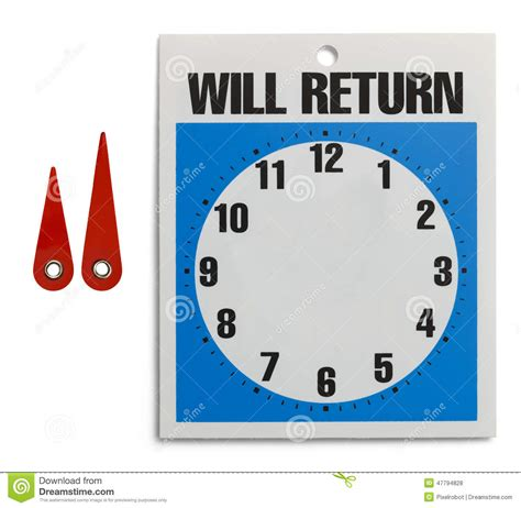 will return sign stock photo image of store customize