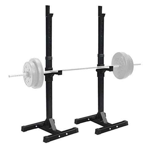bench press holder f2c pair of adjustable rack sturdy steel squat barbell