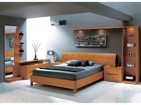 complete bedroom packages brescia complete modern natural wood bedroom set queen