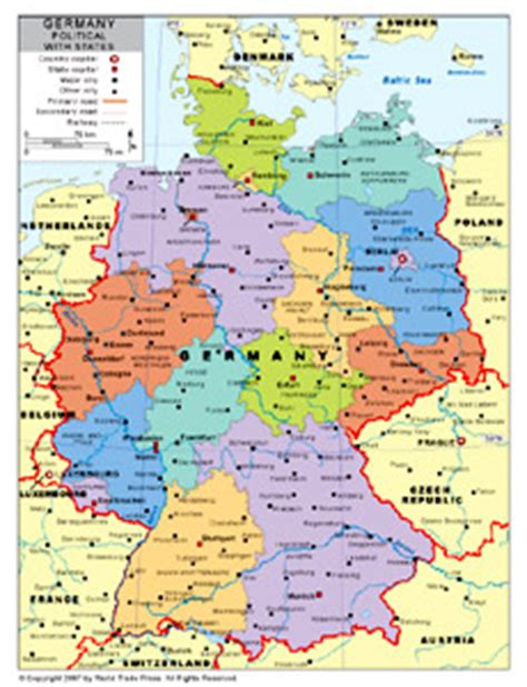 map of german provinces provinces of germany map