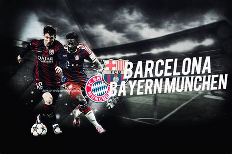 wallpaper barcelona vs bayer munchen fc barcelona bayern munchen 2015 by lavista designer on
