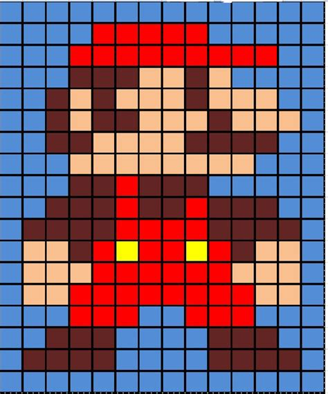 grid pattern in excel square mario