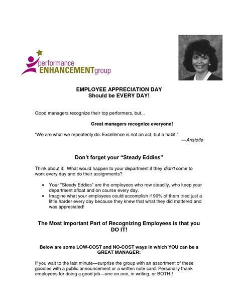 appreciation letter sle employee appreciation letter to employees for work 28 images