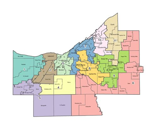 Cuyahoga County Records Council Districts Cuyahoga County Council