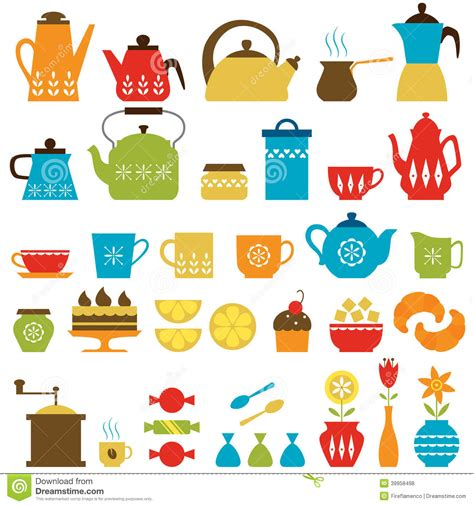 Tea Time And Coffee Time tea time and coffee time stock vector image 39958498