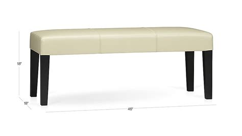 crate and barrel bench seat lowe ivory leather backless bench crate and barrel