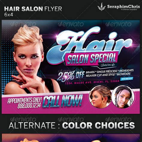 free hair salon flyer templates image gallery salon flyers