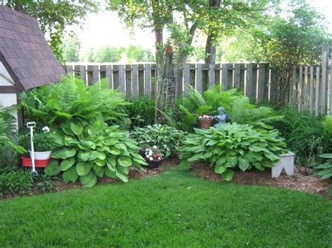 Fern Garden Ideas Corner Hosta Garden Ideas Photograph The Back Corner Hosta