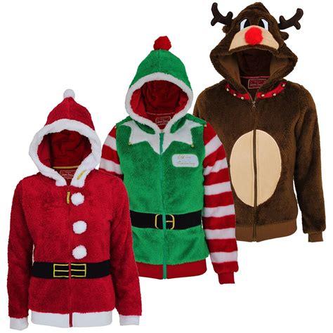Jaket Hoodie Sweater Santa Abu 1 s novelty 3d zip hoodie reindeer santa fleece ebay