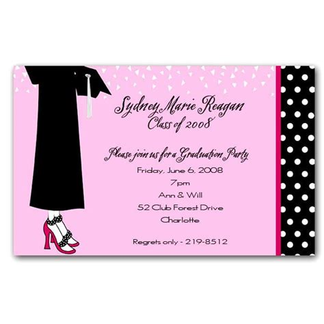 Snowman Home Decor Female Graduation Celebration Invitations Paperstyle