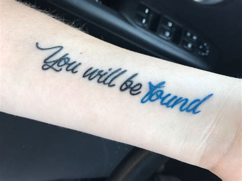 on broadway tattoos you will be found dear evan hansen it s a