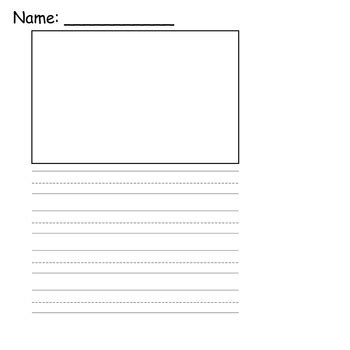 printable interlined paper kindergarten writing paper with picture box 1000 images
