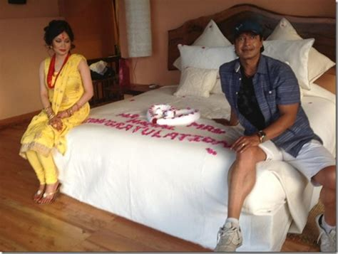 how to do first night the bed the first night suhagraat of rajesh hamal after