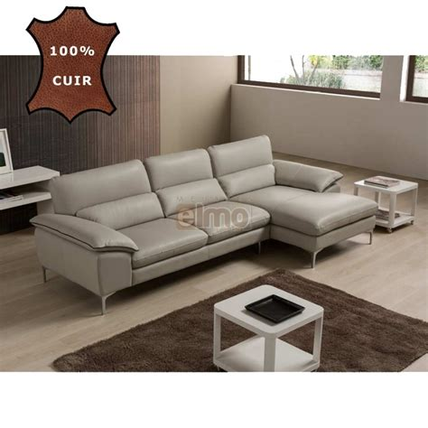 meubles canap駸 promotions canap 233 s canap 233 d angle cuir italien pas cher