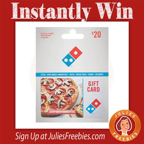 Win Domino S Gift Card - instantly win a dominos gift card julie s freebies