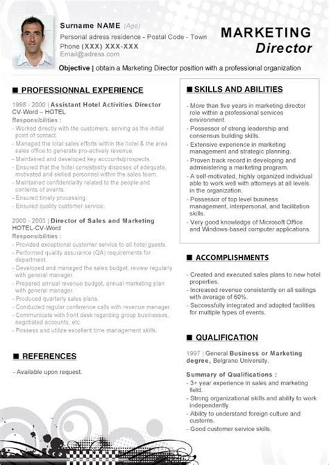 Marketing Cv Template by Click Here To This Word Resume Marketing Director