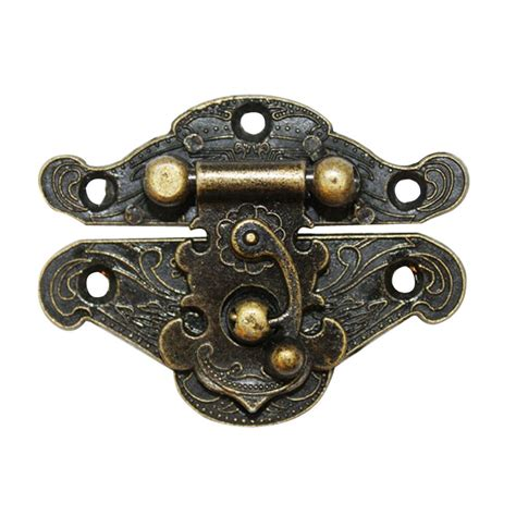 decorative door latch vintage black finish 50x38mm decorative box furniture door