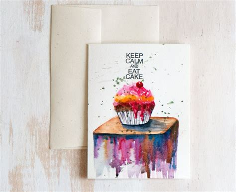 Painting Handmade - watercolor card painted original birthday
