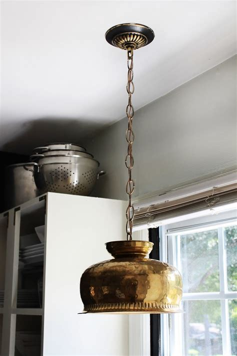 hunted interior diy brass bowl pendant kitchen sneak peek