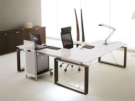 scrivania cristallo ufficio scrivania ad angolo direzionale in cristallo electa