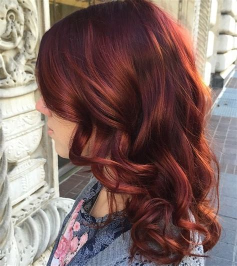 copper auburn hair color long copper red hairstyle with bangs hair pinterest