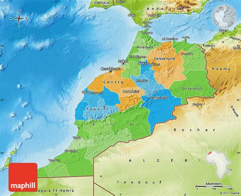 physical map of morocco political map of morocco physical outside
