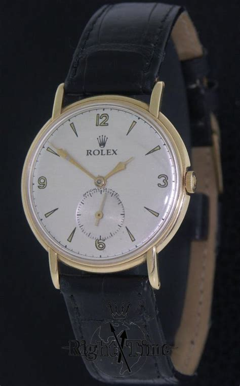 rolex 14kt gold manual wind 4221 pre owned mens watches