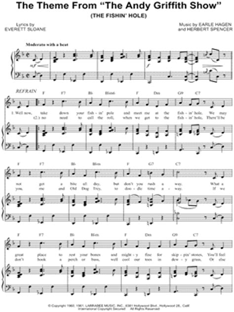 theme song andy griffith the andy griffith show sheet music downloads at musicnotes com