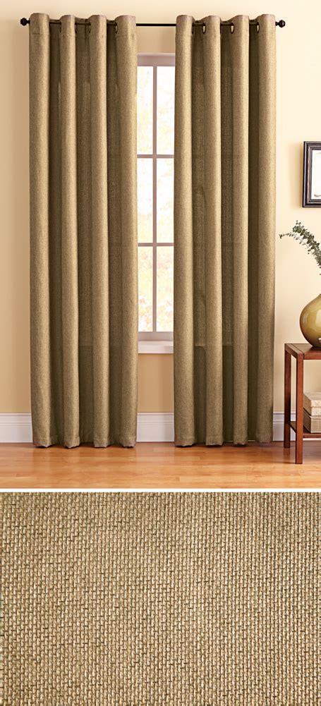 Grommet Burlap Curtains Tundra Burlap Grommet Top Curtain Panel Ebay