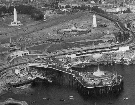 bb plymouth hoe plymouth hoe smeaton s tower and plymouth pier pre war v