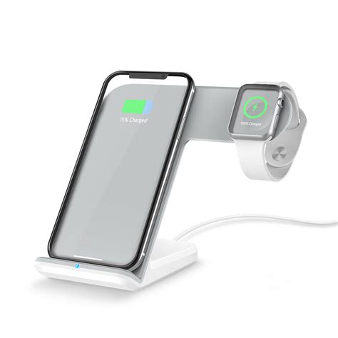 qi wireless charger phone stand charging dock  iwatch