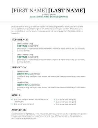 sle chronological resume template word simple resume office templates