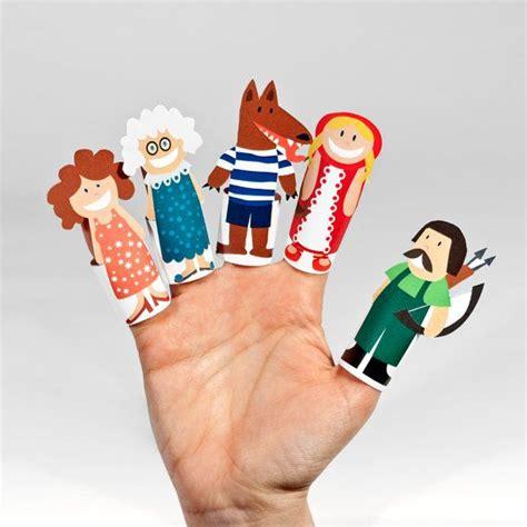 finger puppets diy paper finger puppets printable pdf diy craft kit paper