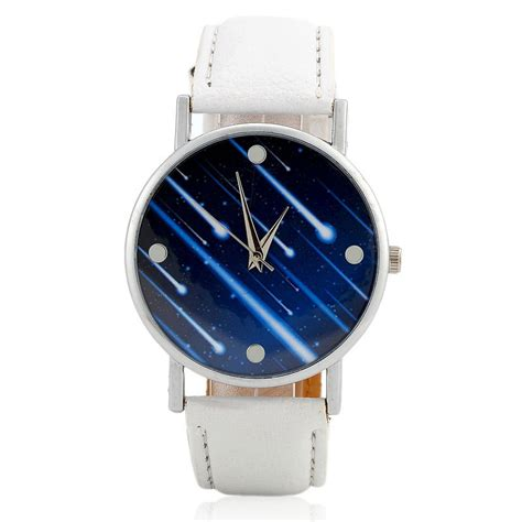 Watches Shower by Faux Leather Meteor Shower In White
