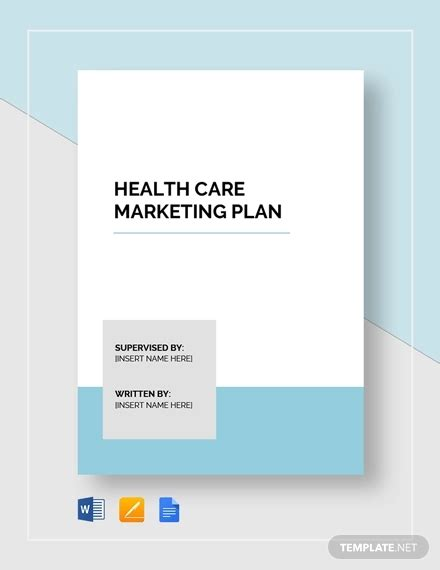 healthcare marketing plan template 33 microsoft word marketing plan templates free