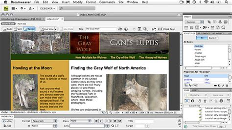 dreamweaver quick tutorial a quick look at the new features in dreamweaver cs4