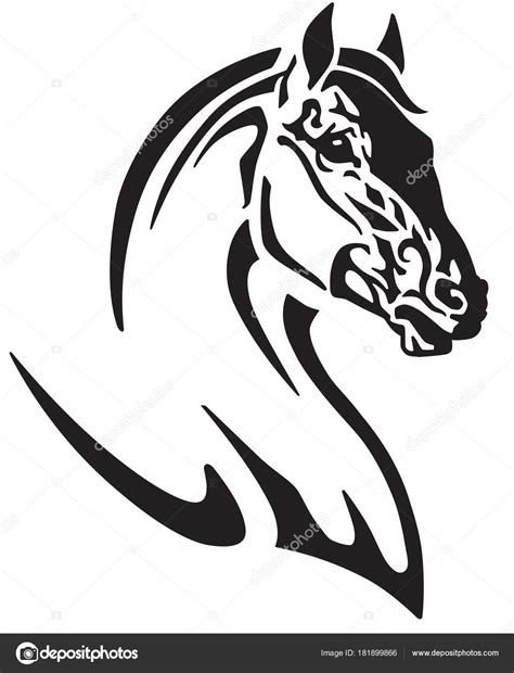 tattoo tribal cheval t 234 te tatouage tribal cheval logo ic 244 ne illustration