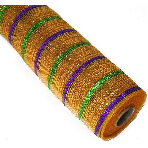 deco mesh 21 quot poly deco mesh deluxe mardi gras re1034h2 craftoutlet