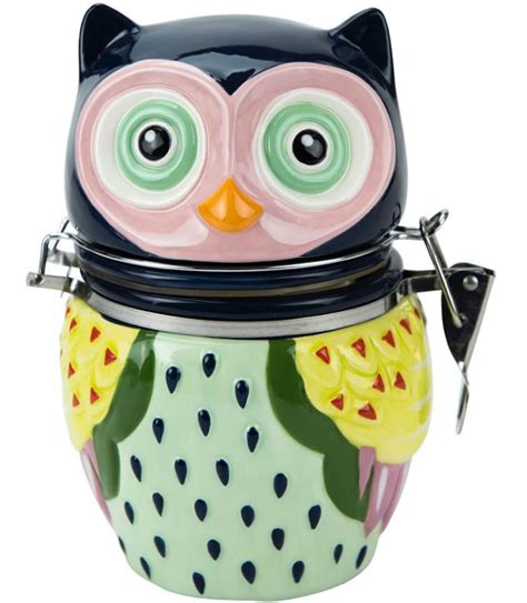 Owl Kitchen Canisters by Hinged Jar Owl In Kitchen Canisters