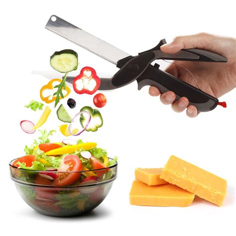 2 in 1 clever cutter cutting board scissors clever cutter 2 in 1 cutting board and knife scissors