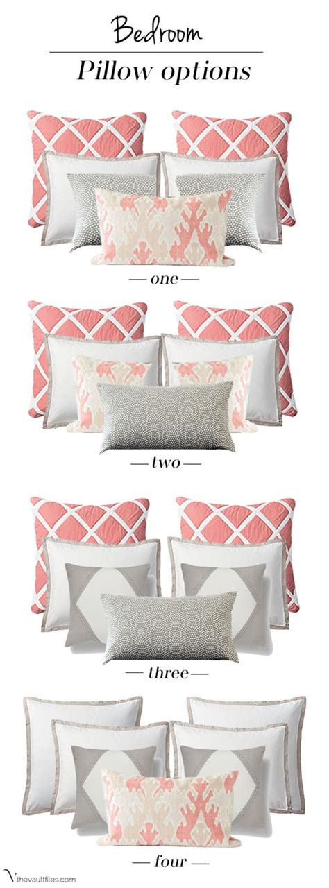 bed pillow arrangement ideas pillows bedrooms and accent pillows on