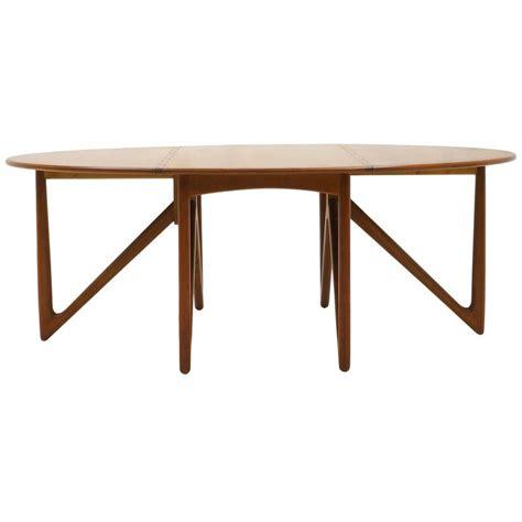 Drop Leaf Gateleg Dining Table Kurt Ostervig Teak Oval Elliptical Gateleg Drop Leaf Dining Table For Sale At 1stdibs