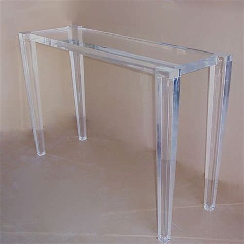 Perspex Console Table Modern Design Acrylic Perspex Console Table Buy Lucite Console Table Acrylic Lucite Waterfall