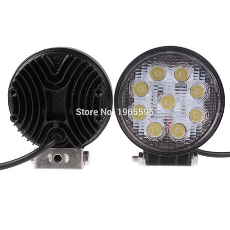 auxiliary led lights for trucks 4 inch 27w led work light off road driving light flood