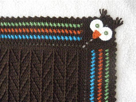 Unique Crochet Baby Blanket by Unique Crocheted Owl Blanket With Branch Stitch