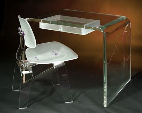 Plastic Desk And Chair by Acrylic Furniture And Decorative Accessories By Aaron R