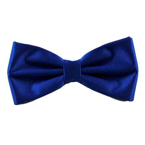 plain royal blue bow tie from ties planet uk