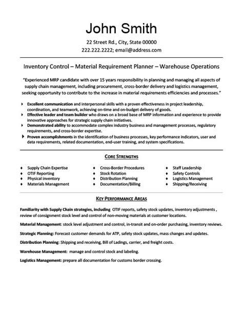materials manager resume template premium resume samples