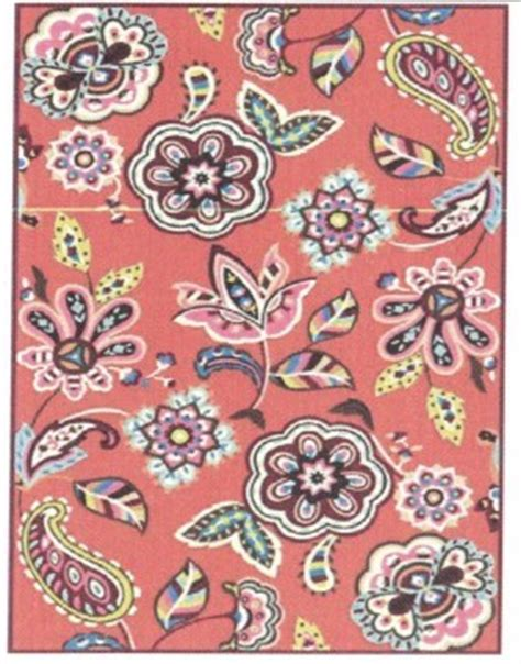 vera bradley area rugs marcella vera bradley indoor outdoor vbo017a call me coral closeout area rug