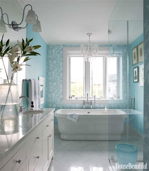 turquoise paint colors transitional bathroom sherwin williams waterfall house beautiful